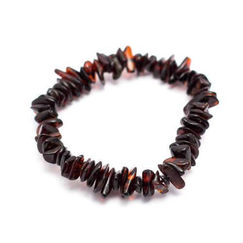 Cherry Baltic Amber Chip Bracelet
