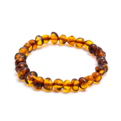 Beaded Baltic Amber Bracelet