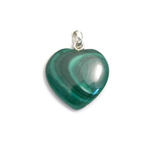 Malachite Crystal Heart Pendant
