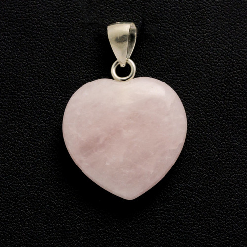 Rose Quartz Crystal Heart Pendant