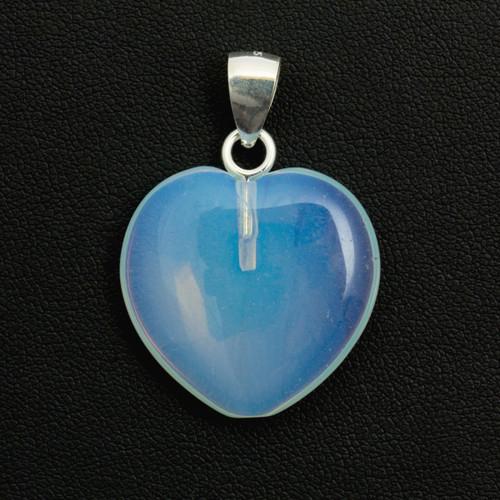 Opalite Crystal Heart Pendant