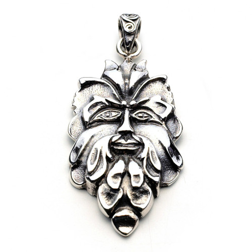 Green Man Pendant (Sterling Silver)