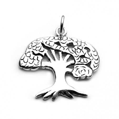 Tree of Life Charm / Pendant (Sterling Silver)