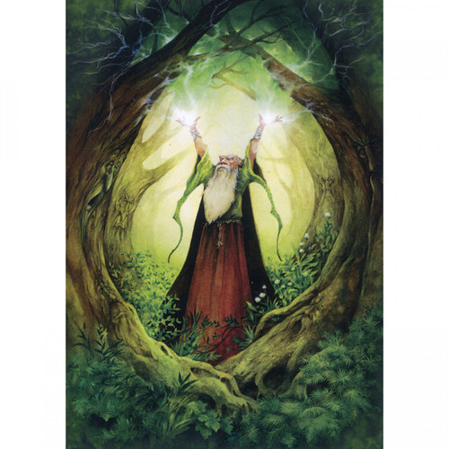 Earth Wizard Greeting Card (Blank)