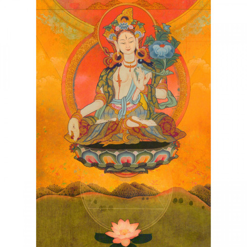 Tara's Blessings Buddhist Greeting Card (Encouragement)