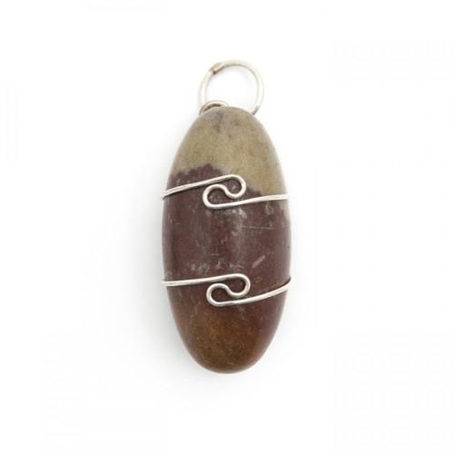 Shiva Lingam Wire Wrap Silver Pendant