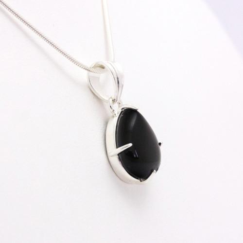 Black Obsidian Teardrop Pendant