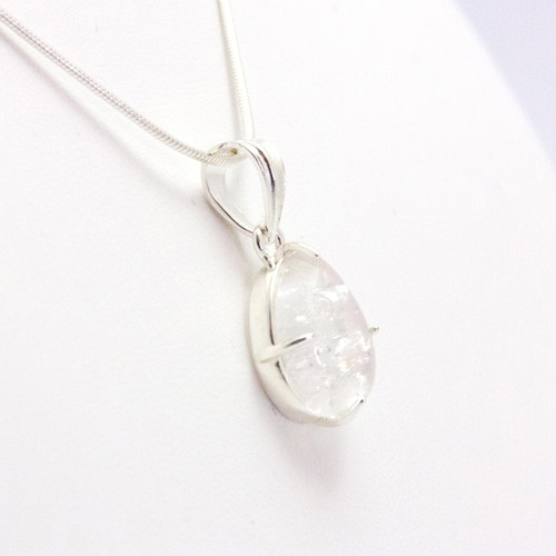 Clear Quartz Teardrop Pendant