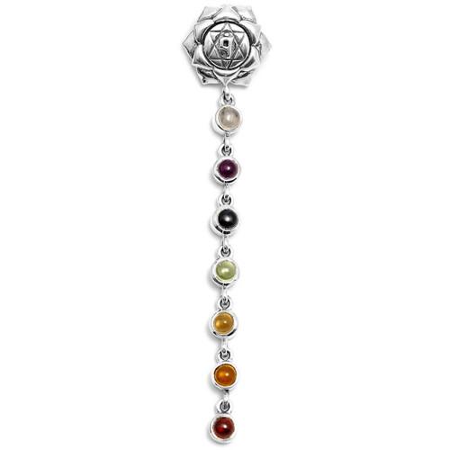 Chakra Gem Pendant (Sterling Silver)
