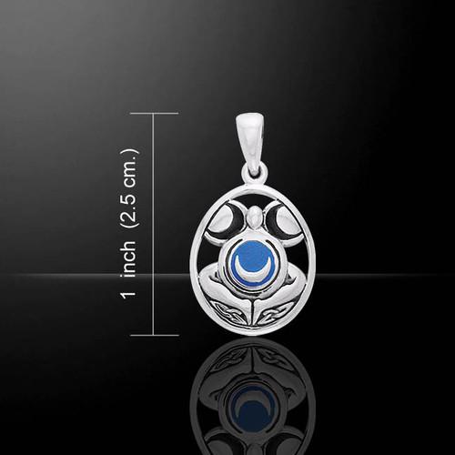 Moon Goddess Pendant (Sterling Silver)