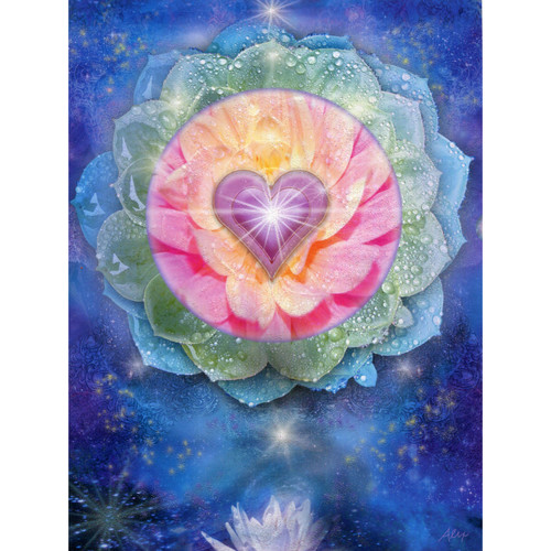 Lotus Heart Greeting Card (Birthday) by Alixandra Mullins