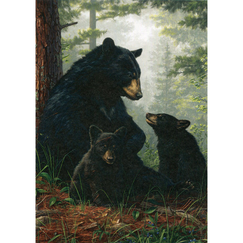 Bear Family Greeting Card (Blank)