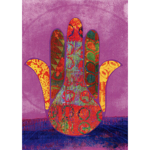 Hamsa Blessings Greeting Card (Blank)