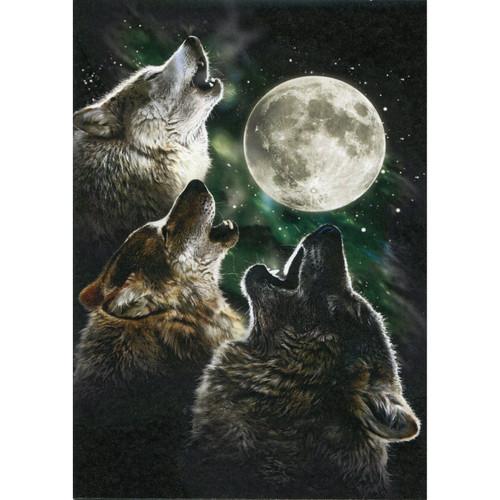 Three Wolf Moon Greeting Card (Blank)