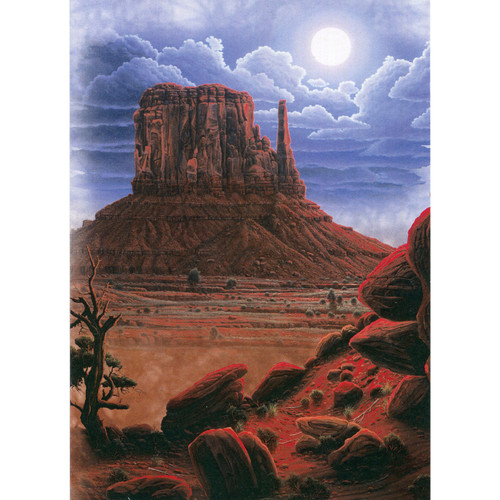 Navaho Moon Greeting Card (Blank)