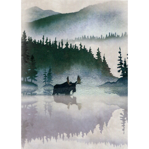 Moose Watercolour Greeting Card (Blank)