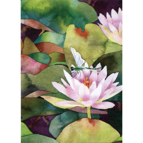 Waterlilies & Dragonfly Greeting Card (Sympathy)