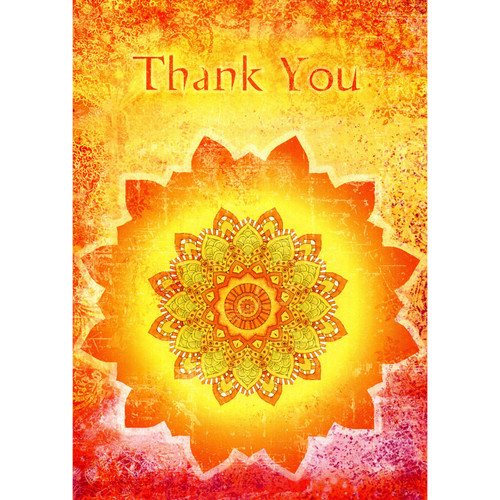 Tangerine Thanks Greeting Card (Thank You)
