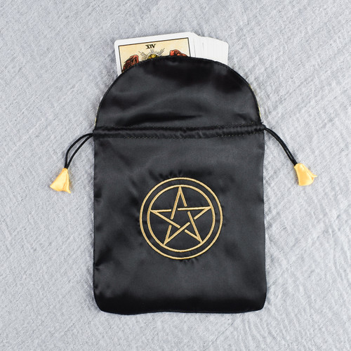 Pentacle Satin Tarot / Oracle Card Bag