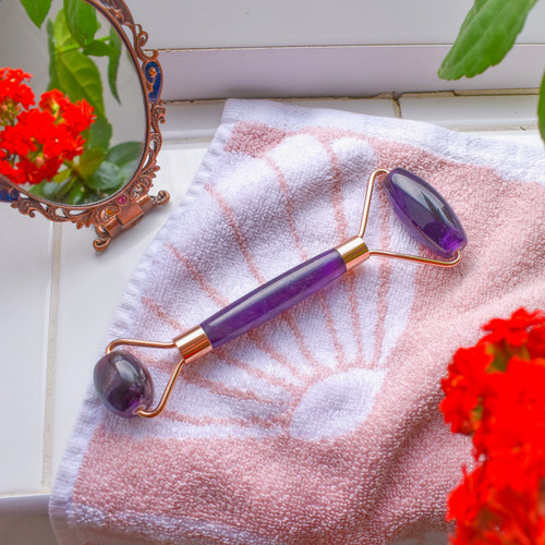 Dual End Facial Massage Roller - Various Crystals Available
