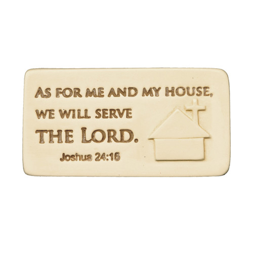 Serve the Lord Inspirational Scripture Tile