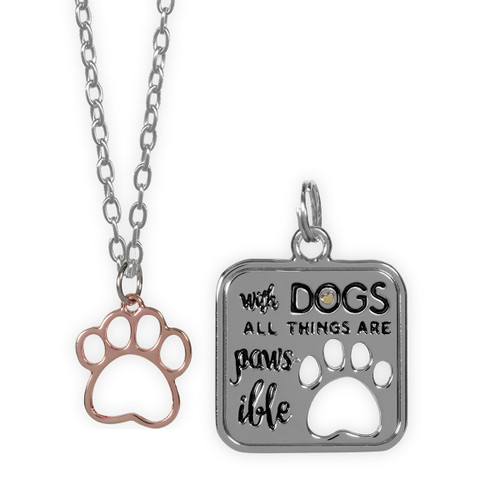 Best Furr-end With Dogs Paws Pendant & Charm