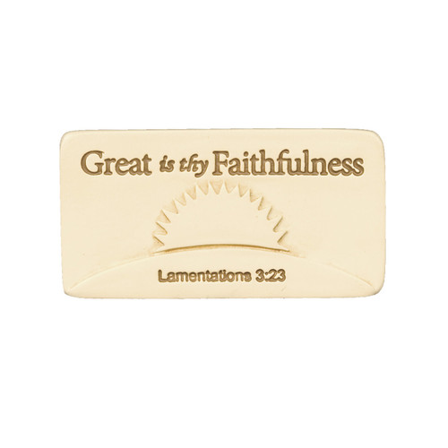 Great is thy Faithfulness Inspirational Scripture Tile