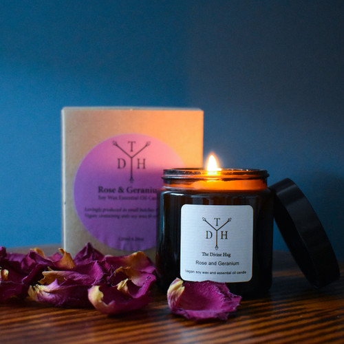 Rose & Geranium Soy Wax Candle