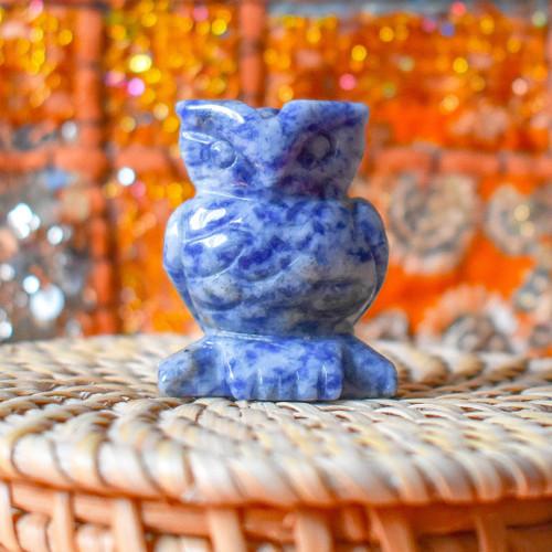 Sodalite Crystal Owl