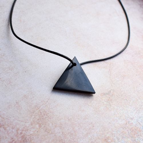 Shungite Triangle Pendant