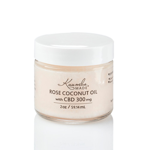 Rose Coconut Oil with CBD (300mg) - 2 oz