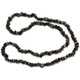 Black Tourmaline Crystal Chip Necklace (32 Inch)
