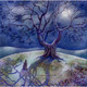The Moonlit Hare Greeting Card (Blank)