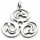 Cerrunos Triskele Pendant (Sterling Silver)