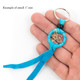 Leather Navajo Dream Catcher Keyring  by Curtis Bitsui