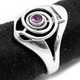 Cho Ku Rei Reiki Ring with Amethyst (Sterling Silver)