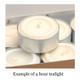 Pack of 24 Organic Tea Lights - (Plant Wax)