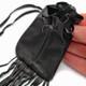 Black Leather Medicine Bag by Curtis Bitsui