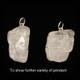 Azeztulite Wire Wrap Silver Pendant