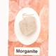 Morganite Wire Wrap Silver Pendant