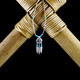 Medicine Shield Earrings / Necklace with Turquoise & Feathers (Sterling Silver)