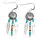 Medicine Shield Earrings / Necklace with Turquoise (Sterling Silver)