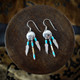 Medicine Shield Earrings & Necklace with Turquoise (Sterling Silver)