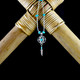 Small 3D Dream Catcher Earrings / Necklace with Turquoise (Sterling Silver)