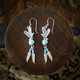 Eagle Earrings / Necklace with Turquoise & Feather (Sterling Silver)