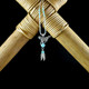 Horse Earrings / Necklace with Turquoise & Feather (Sterling Silver)