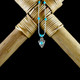 Silver Arrowhead Earrings / Necklace with Turquoise (Sterling Silver)