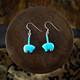 Turquoise Zuni Bear Earrings (Sterling Silver)