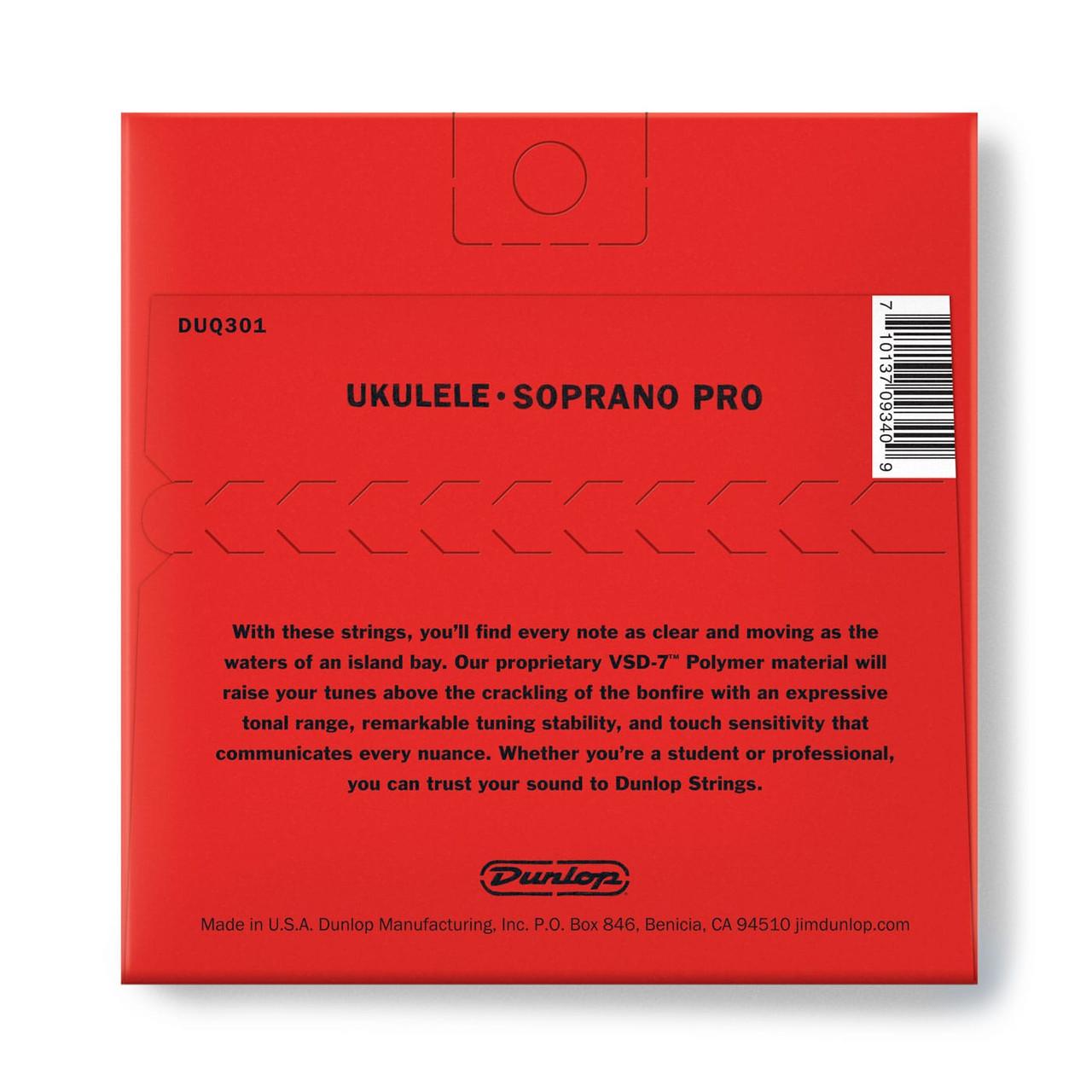 Dunlop DUY301 Soprano Pro Ukulele Strings 4 Strings//Set