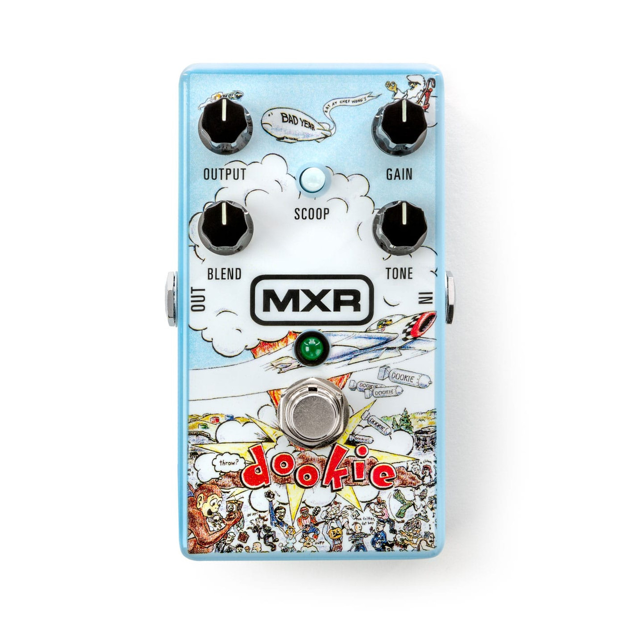 MXR DD25V2 Limited Edition Green Day Dookie Drive V2 Overdrive Effects Pedal